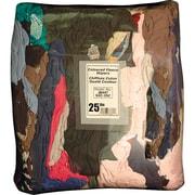 Chiffons recyclés, sac de torchons mélangés de 25 lb, 4/paquet