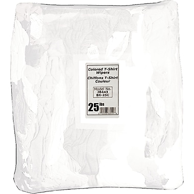 Wiping Rags, JB451, White T-Shirt, 2/Pack