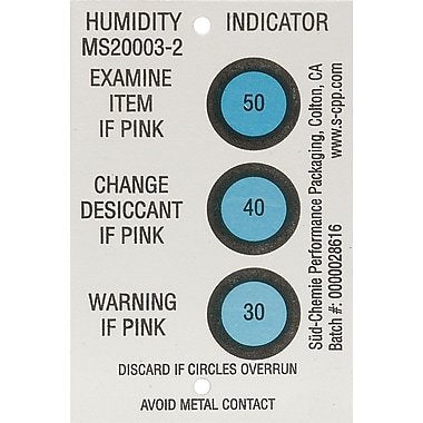 Humidity Indicators, 250/Pack