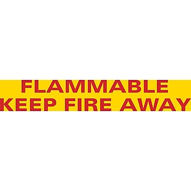 LABEL FLAMMABLE KEEP FIRE AWAY, 12/Pack