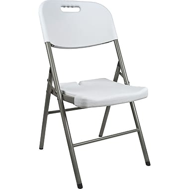 Polypropylene Folding Chairs, 3/Pack