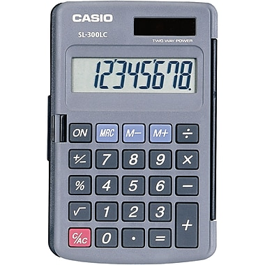 Casio Dual-Power Calculators, 5/Pack