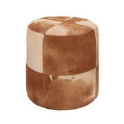 Woodland Imports Attractive Leather Ottoman
