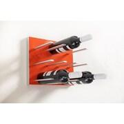 STACT 9 Bottle Wall Mounted Wine Rack; Electric Orange