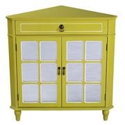 Heather Ann 1 Drawer 2 Door Chest; Yellow