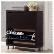 Wholesale Interiors Baxton Studio Simms 12-Pair Shoe Storage Cabinet
