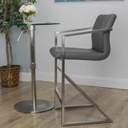 Matrix 26'' Bar Stool; Gray