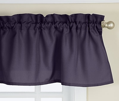 Sweet Home Collection Opaque Ribcord Kitchen Curtain Valance; Navy