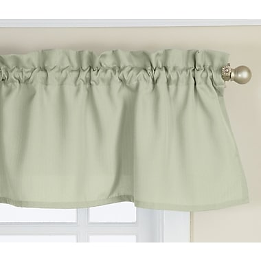 Sweet Home Collection Opaque Ribcord Kitchen Curtain Valance; Sage