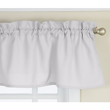 Sweet Home Collection Opaque Ribcord Kitchen Curtain Valance; White
