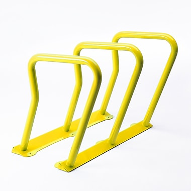 Frost 6 Bike Freestanding Bike Rack; Yellow