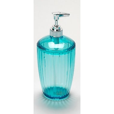 Carnation Home Fashions Acrylic Ribbed Lotion Dispenser; Cerulean Blue