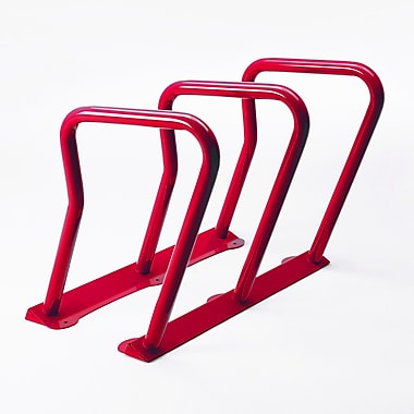 Frost 6 Bike Freestanding Bike Rack; Red