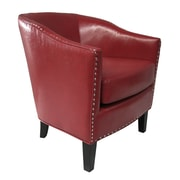 Madison Park Fremont Barrel Chair; Red