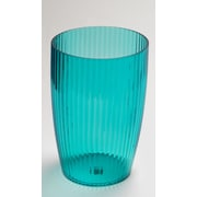 Carnation Home Fashions Acrylic Ribbed 1.2 Gallon Plastic Trash Can; Cerulean Blue