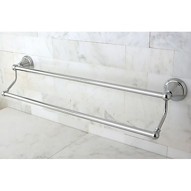 Kingston Brass Governor Double 24'' Wall Mounted Towel Bar; Polished Chrome