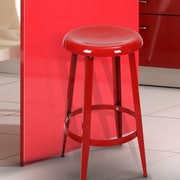 AdecoTrading 26'' Bar Stool; Red