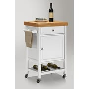 Wholesale Interiors Baxton Studio Kitchen Cart w/ Wood Top