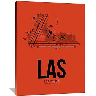 Naxart 'LAS Las Vegas Airport' Graphic Art on Wrapped Canvas; 48'' H x 36'' W x 1.5'' D