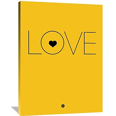 Naxart 'Love Poster' Textual Art on Wrapped Canvas; 48'' H x 36'' W x 1.5'' D
