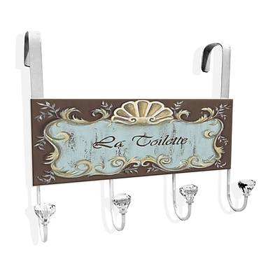 Stupell Industries La Toilette Over-the-Door Towel Hanger