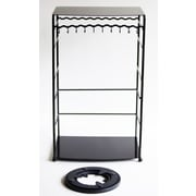 BelleDangles Free Standing Jewelry Armoire; Black