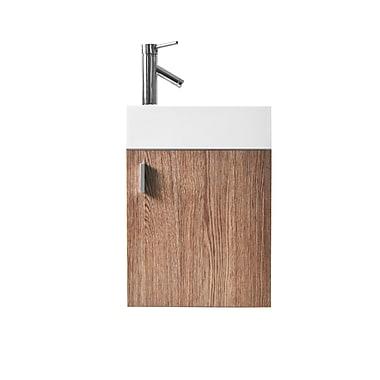 Virtu Carino 16'' Single Bathroom Vanity Set; Light Oak