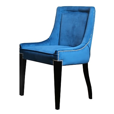 HD Couture Giselle Castalina Side Chair (Set of 2); Teal