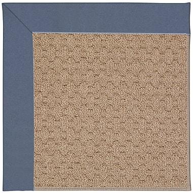 Capel Zoe Grassy Mountain Machine Tufted Azure/Brown Indoor/Outdoor Area Rug; Round 12' x 12'