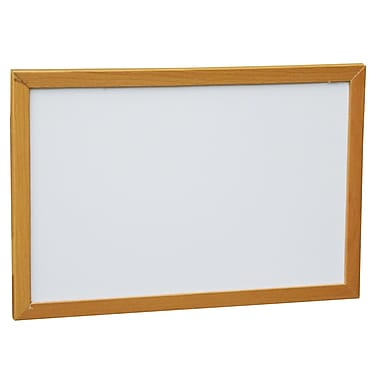 NeoPlex Wood Framed Wall Mounted Magnetic Whiteboard; 1' H x 1.5' W