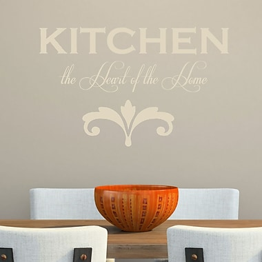 DecaltheWalls Kitchen the Heart of the Home' Wall Decal; Beige