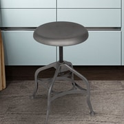 AdecoTrading Adjustable Height Swivel Bar Stool; Gunmetal