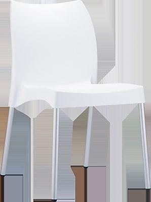 Siesta Exclusive Vita Stacking Patio Dining Chair; White