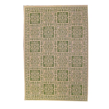 American Mills Patchwork Floral Green Area Rug; 1'11'' x 3'