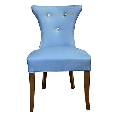 HD Couture Cosmo Side Upholstered Dining Chair (Set of 2); Blue