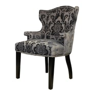 HD Couture Brittania Wingback Chair; Mink