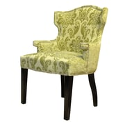 HD Couture Brittania Wingback Chair; Chartruese