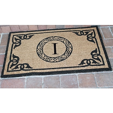 A1 Home Collections LLC First Impression Geneva Monogrammed Doormat; I