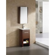 Fine Fixtures Modena 21.63'' x 31.5'' Surface Mount Medicine Cabinet; Off-White Grain