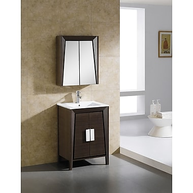 Fine Fixtures Imperial II 23.63'' x 27.13'' Surface Mount Medicine Cabinet; Ebony Wave