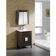 Fine Fixtures Imperial II 23.63'' x 27.13'' Surface Mount Medicine Cabinet; White