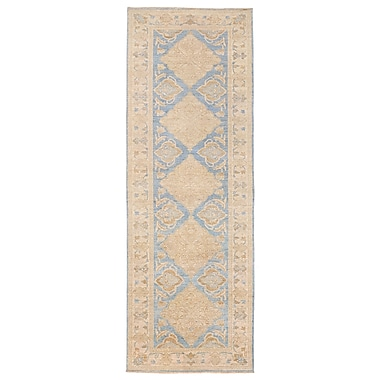 Herat Oriental Vegetable Dye Hand-Knotted Blue Area Rug