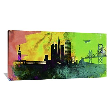 Naxart 'San Francisco City Skyline' Graphic Art on Wrapped Canvas; 36'' H x 72'' W x 1.5'' D