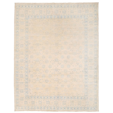Herat Oriental Vegetable Dye Hand-Knotted Ivory Area Rug