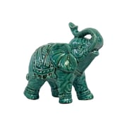 "Urban Trends Ceramic Figurine, 7""L x 4""W x 7""H, Blue (10615)"