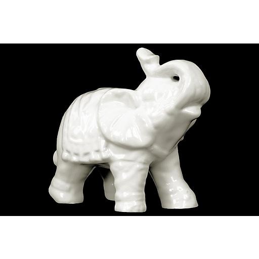 """Urban Trends Ceramic Figurine, 7.5""""L x 4.25""""W x 7""""H, White (10625)"""