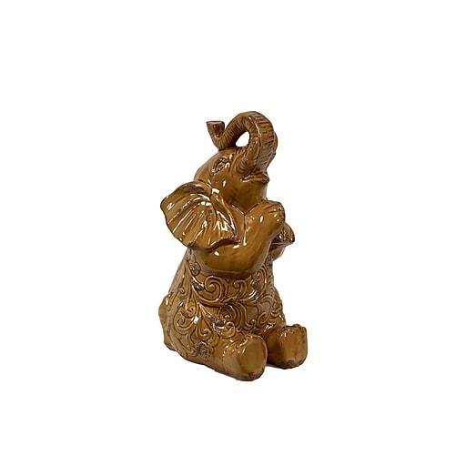 """Urban Trends Ceramic Figurine, 9""""L x 8""""W x 16""""H, Orange (10808)"""