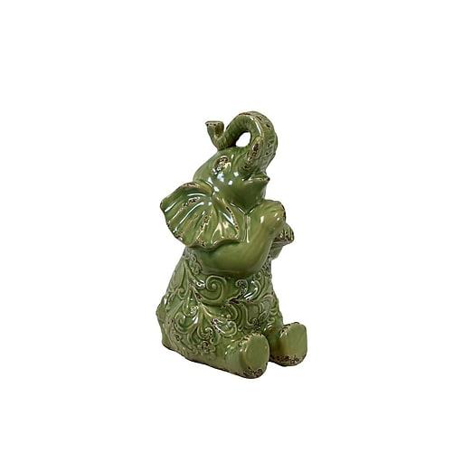 "Urban Trends Ceramic Figurine, 9""L x 8""W x 16""H, Green (10809)"