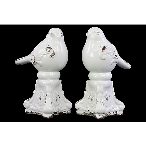 "Urban Trends Ceramic Figurine, 4.75""L x 4.75""W x 8.5""H, White (10879-AST)"