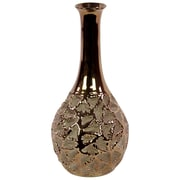 "Urban Trends Ceramic Vase, 0"" x 7"" x 14"", Gold (11112)"
